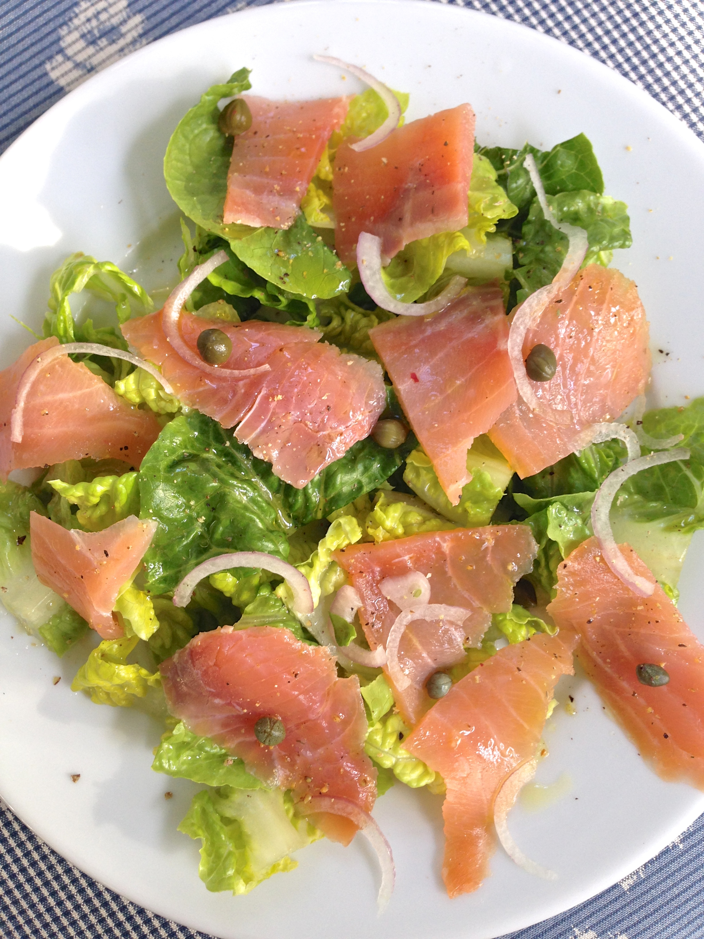Romaine Salad with Smoked Salmon - Laughter and Lemonade
