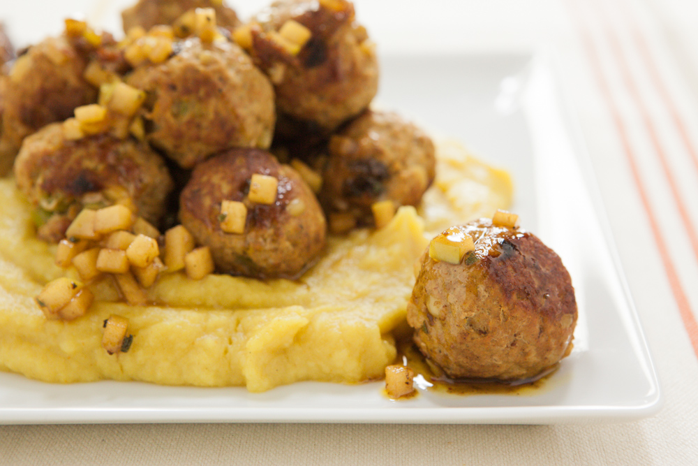 Moroccan Meatballs with Apple Sage Butter
