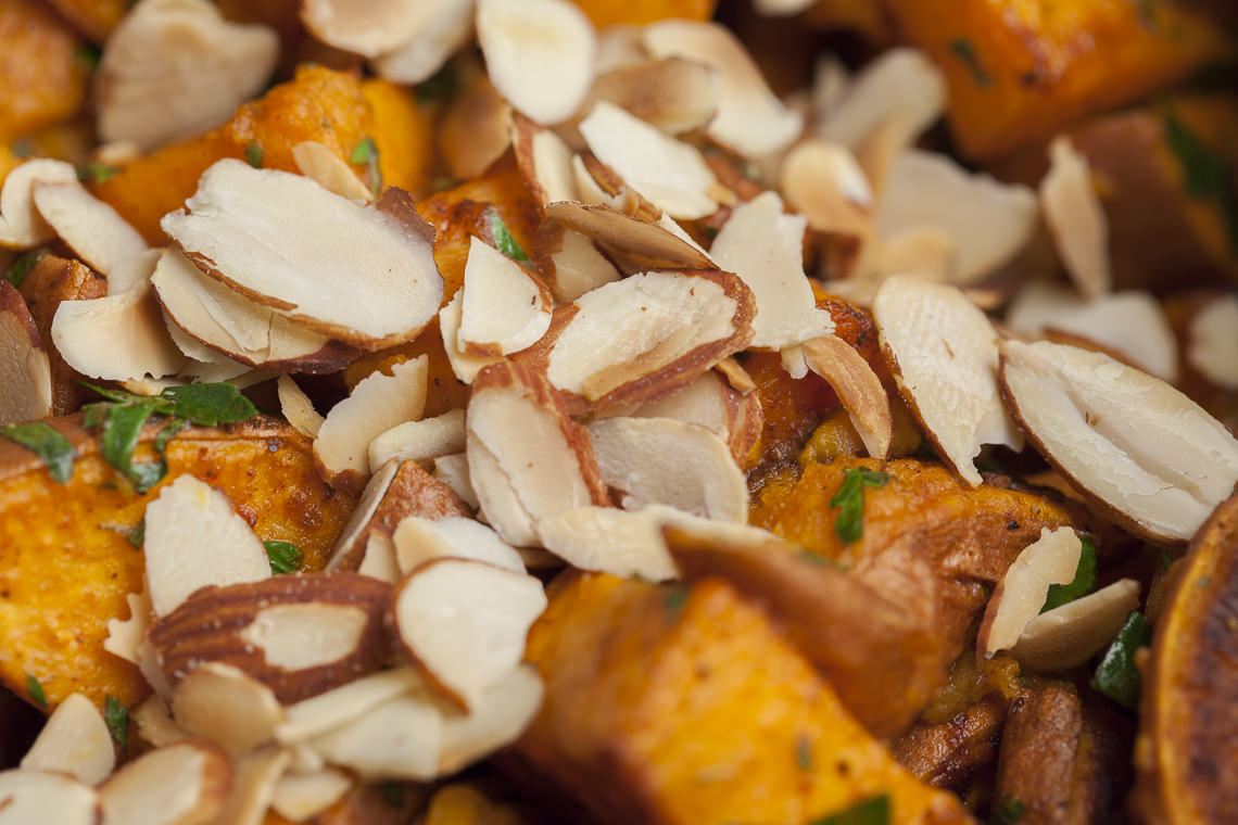 Mediterranean Sweet Potato Salad with Almonds