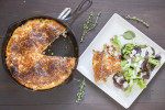 Summer Frittata with Creamy Herb Dressed Greens