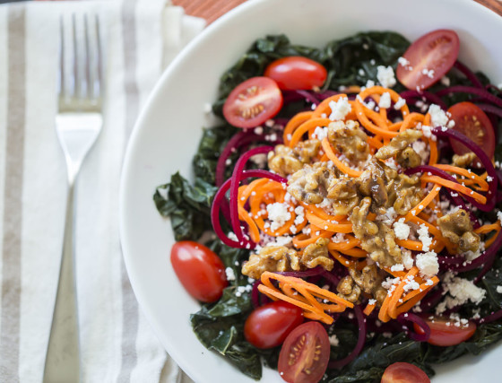 Hot and Cold Power Salad | LaughterandLemonade.com
