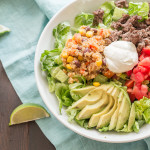 Southwest Quinoa Salad Taco Bowl | LaughterandLemonade.com