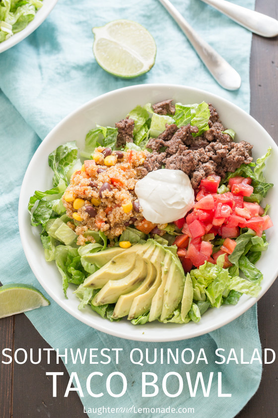 Southwest Quinoa Taco Salad Recipe
