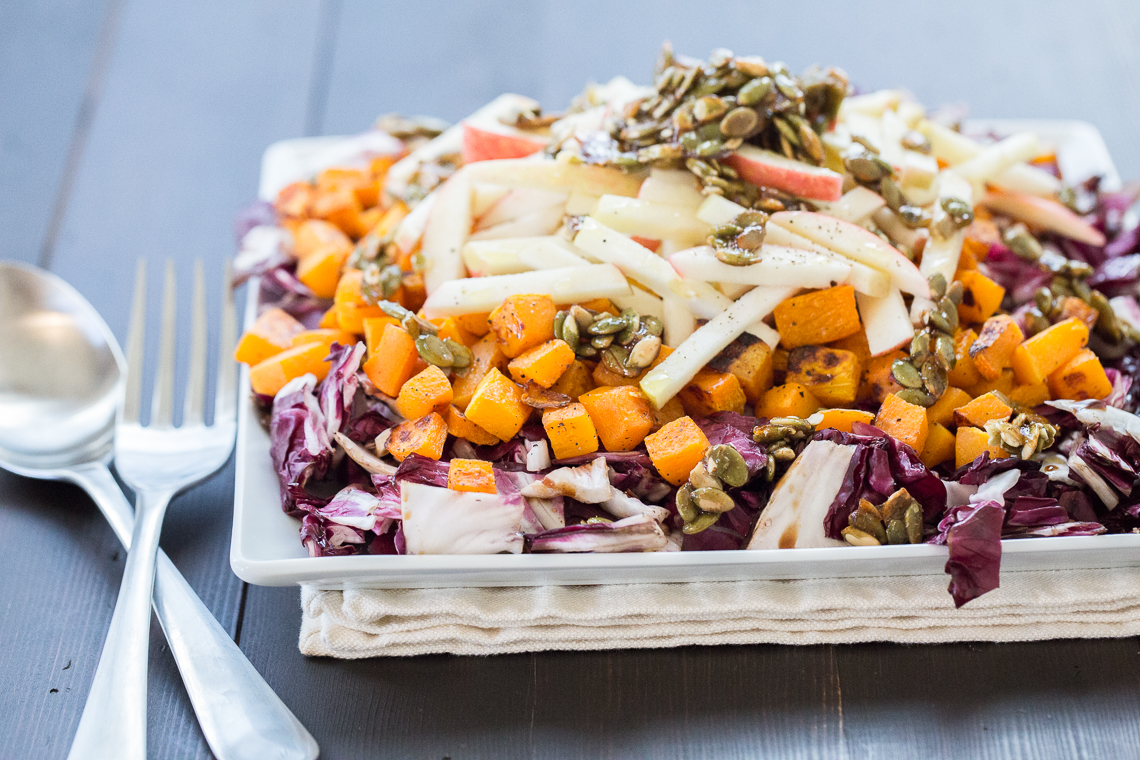 Roasted Radicchio and Butternut Squash Salad - Laughter and Lemonade
