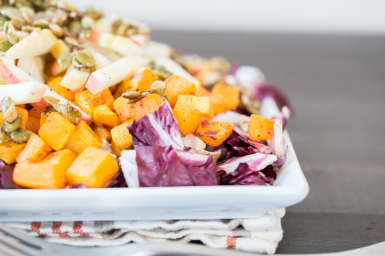 Roasted Butternut Squash, Radicchio, And Onion Recipe — Dishmaps
