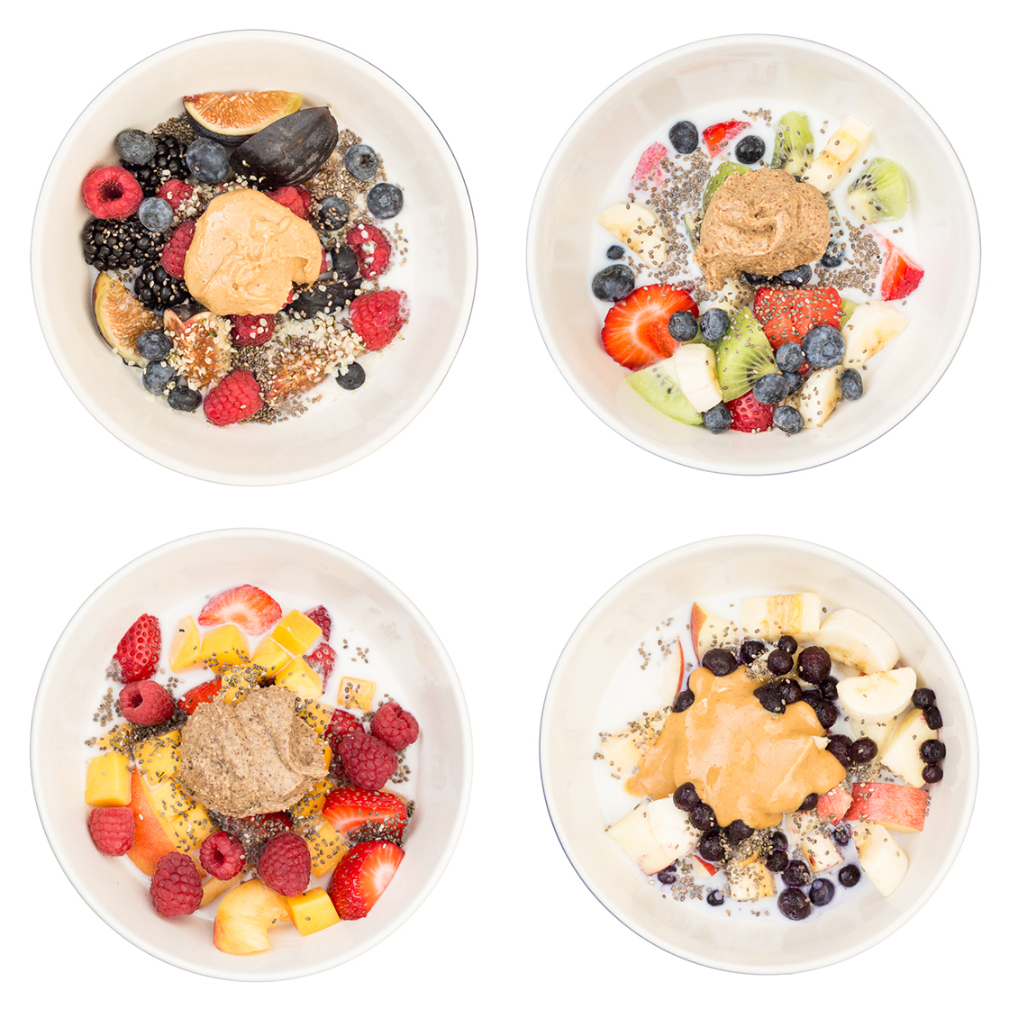 Healthy Breakfast Fruit Cereal + 4 Whole Food Cereals