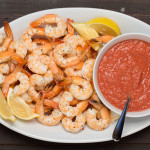 Roasted Lemon Shrimp Cocktail | LaughterandLemonade.com