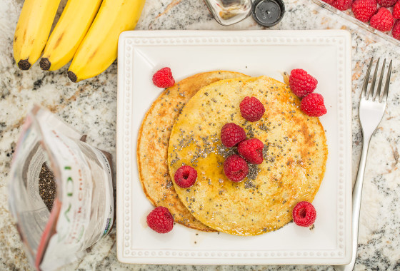 1 Banana + 2 Egg Pancakes | LaughterandLemonade.com
