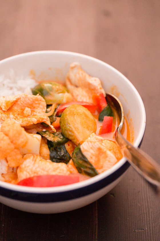 Thai Pumpkin Chicken Curry | LaughterandLemonade.com